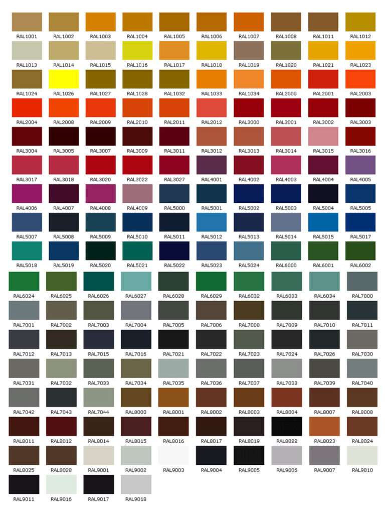 Ral ral image of the swatch for matching ral colours in ral u ncs color chart nvjuhfo Images